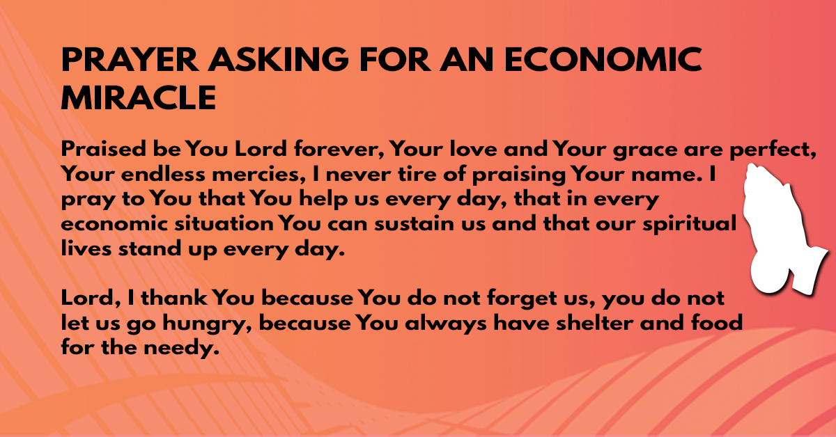 Prayer asking for an economic miracle