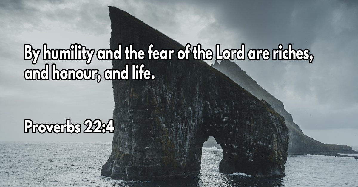 By humility and the fear of the Lord are riches, and honour, and life