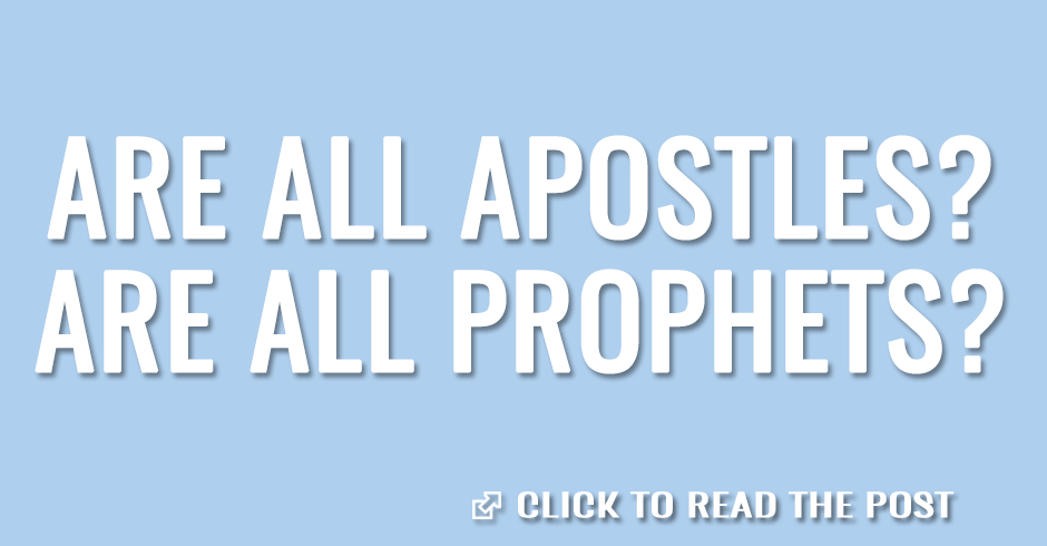 ARE ALL APOSTLES