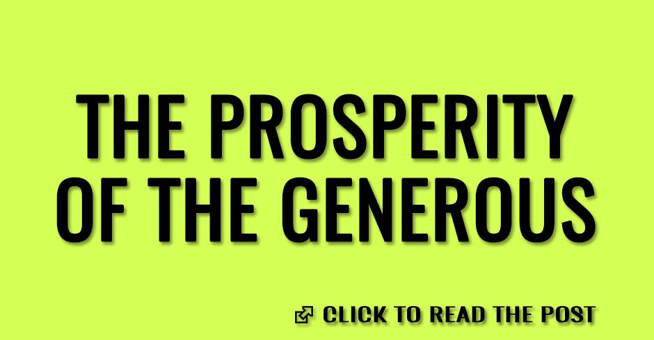 The prosperity of the generous