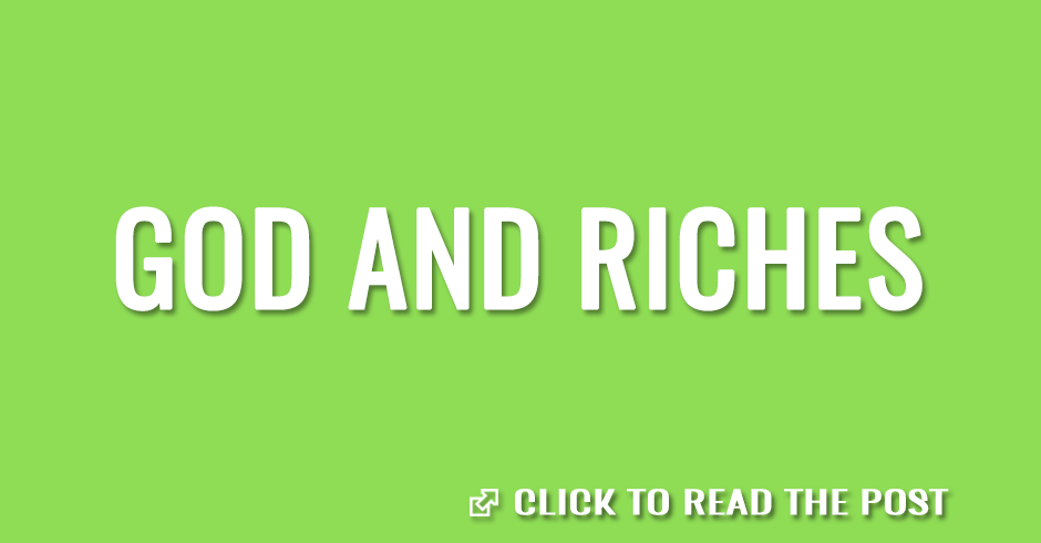 God and riches