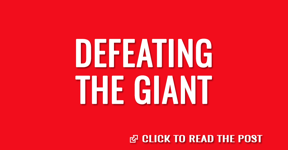 Defeating the giant that make us war
