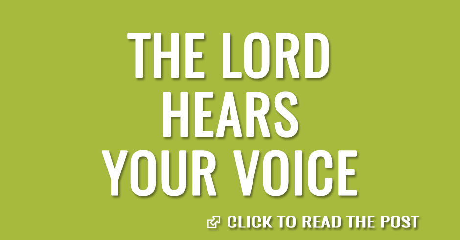 The Lord hears your voice