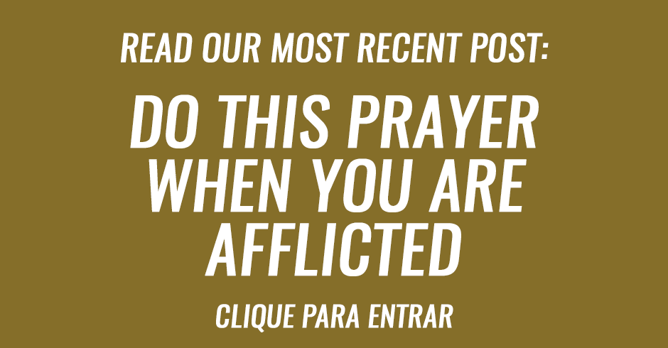 Do this prayer when you are afflicted
