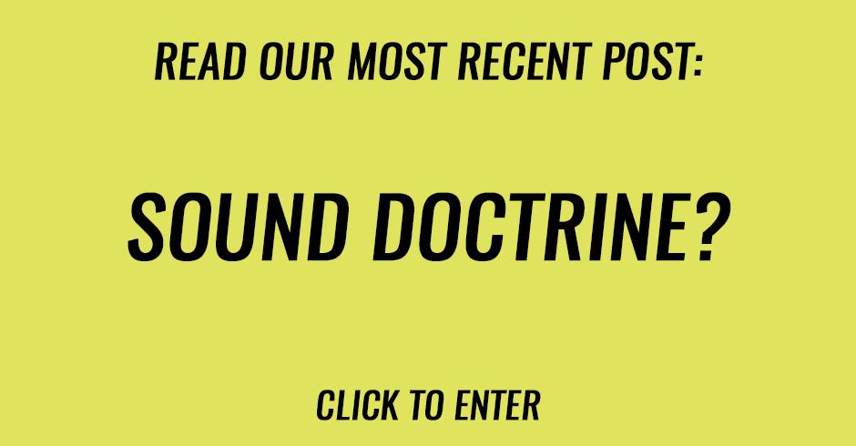 Sound doctrine?