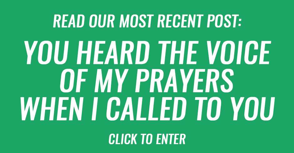 You heard the voice of my prayers when I called to You
