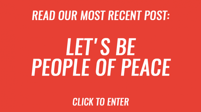 Let's be people of peace