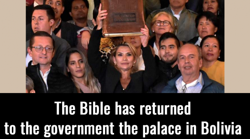 The Bible has returned to the government the palace in Bolivia