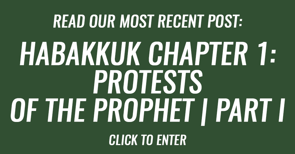 Habakkuk chapter 1- Protests of the prophet   Part I