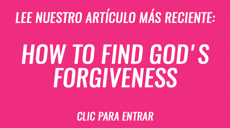 How to find God's forgiveness
