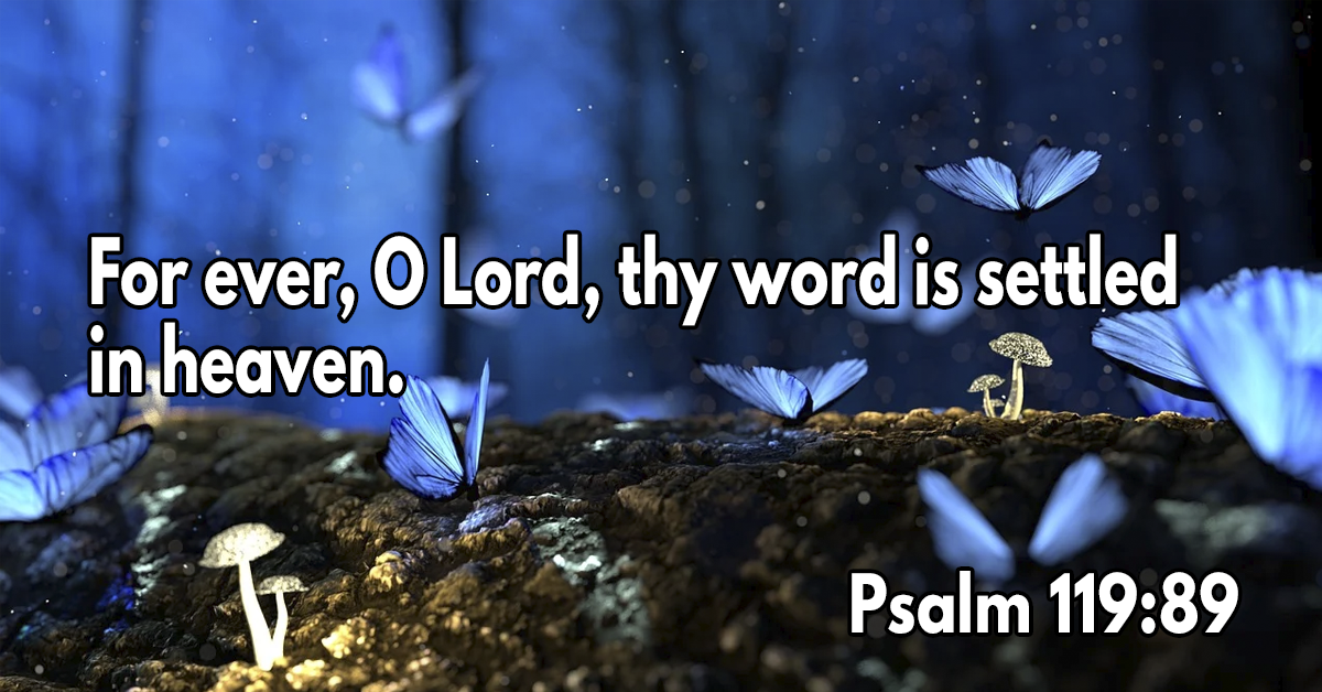 His word is settled in heaven