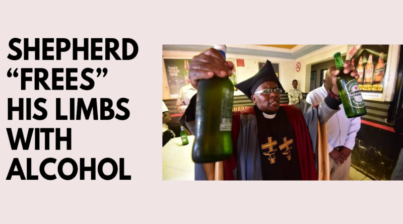 South African shepherd frees his limbs with alcohol