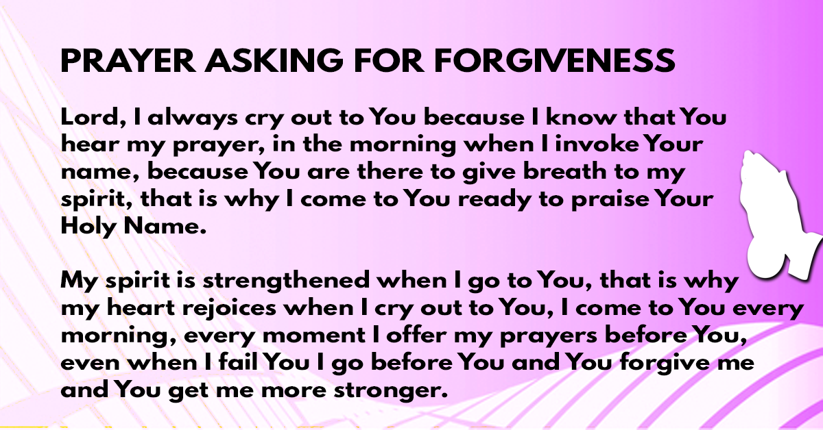 Prayer asking for forgiveness