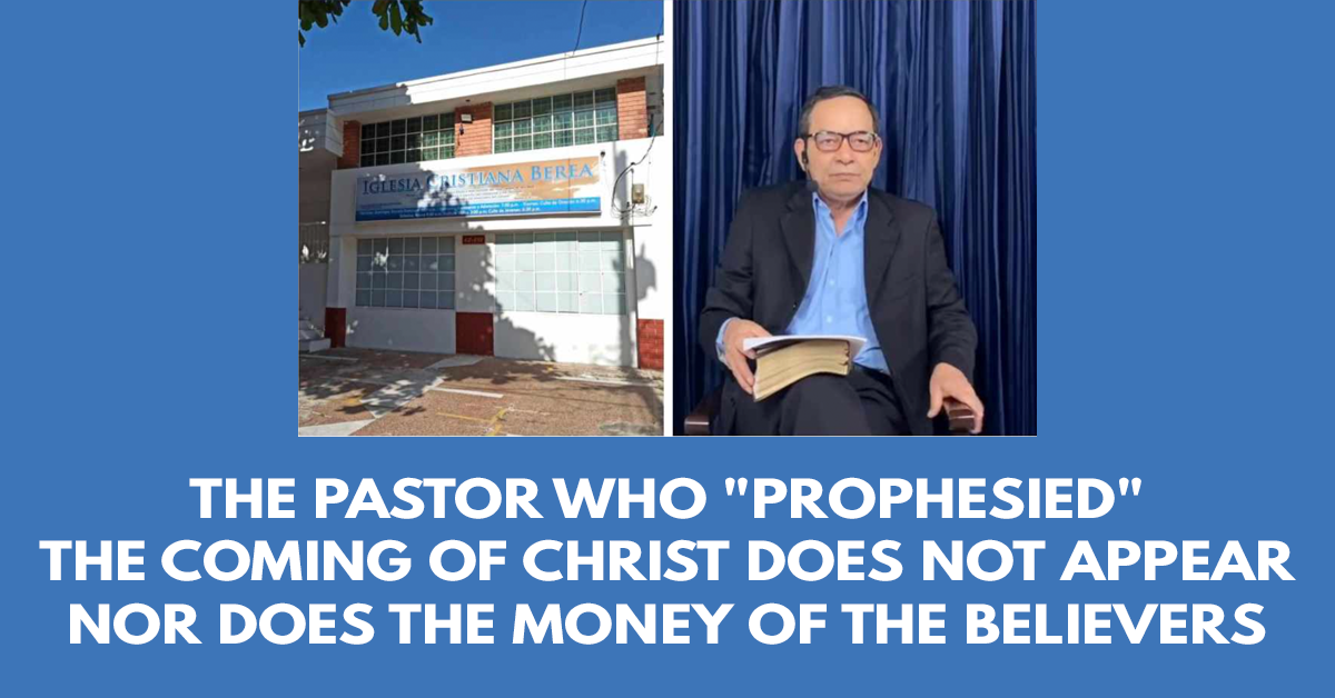 The pastor who prophesied the coming of Christ does not appear nor does the money of the believers