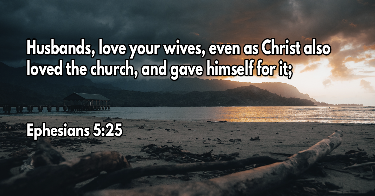 Husbands, love your wives, even as Christ also loved the church, and gave himself for it