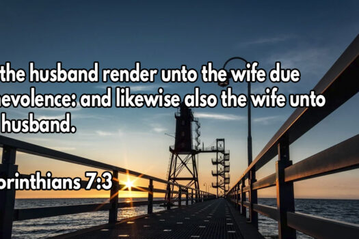Let the husband render to his wife the affection due her, and likewise also the wife to her husband