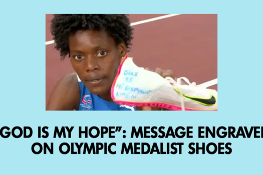"""""""God is my hope"""": Message engraved on Olympic medalist shoes"""