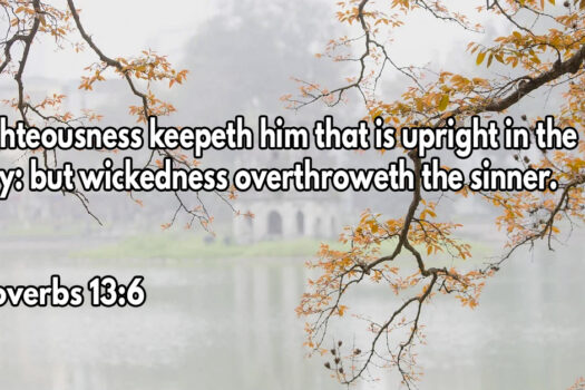 Righteousness keepeth him that is upright in the way